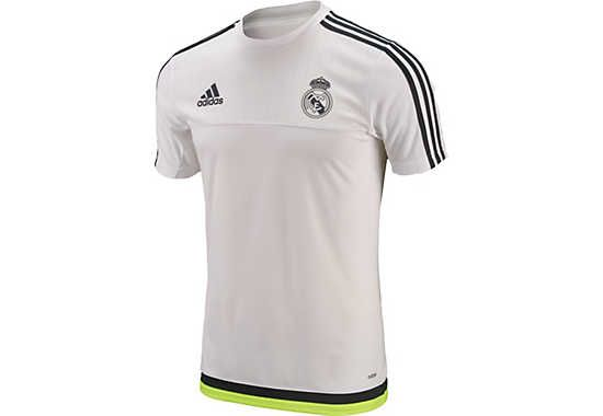 Adidas Kids Real Madrid Training Jersey White And Deepest Space Soccerpro Com Real Madrid Training Real Madrid Soccer Real Madrid