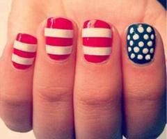 Star Spangled Banner- USA Inspired Nail Art