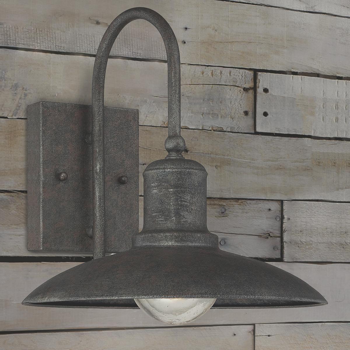 Artisan Rustic Industrial Outdoor Sconce-Medium    for breezeway?