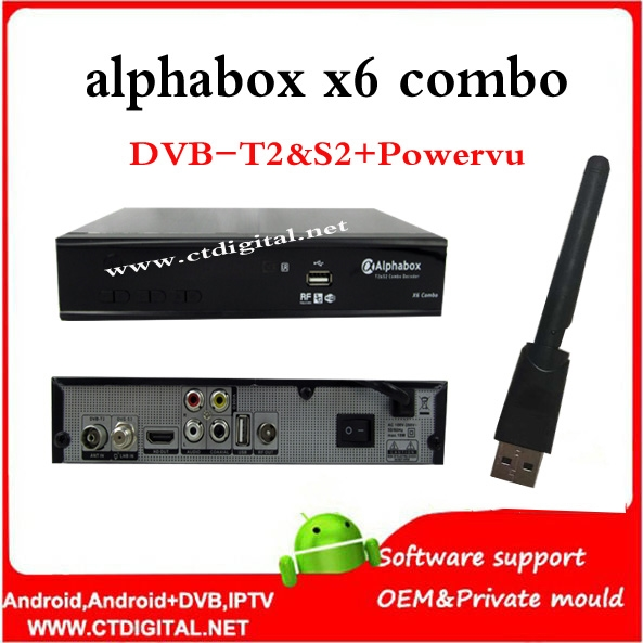 50.00$  Watch here - http://aligig.shopchina.info/go.php?t=32681234938 - freesat v7 combo powervu alphabox x6 combo+wifi dongle DVB-S2 DVB-T2 hd satellite receiver support wifi USB 3G alphabox x4 50.00$ #buymethat