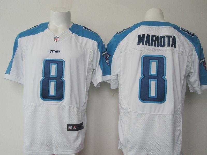 Tennessee Titans 8 mariota white Men Nike Elite Jerseys   Tennessee  hot sale