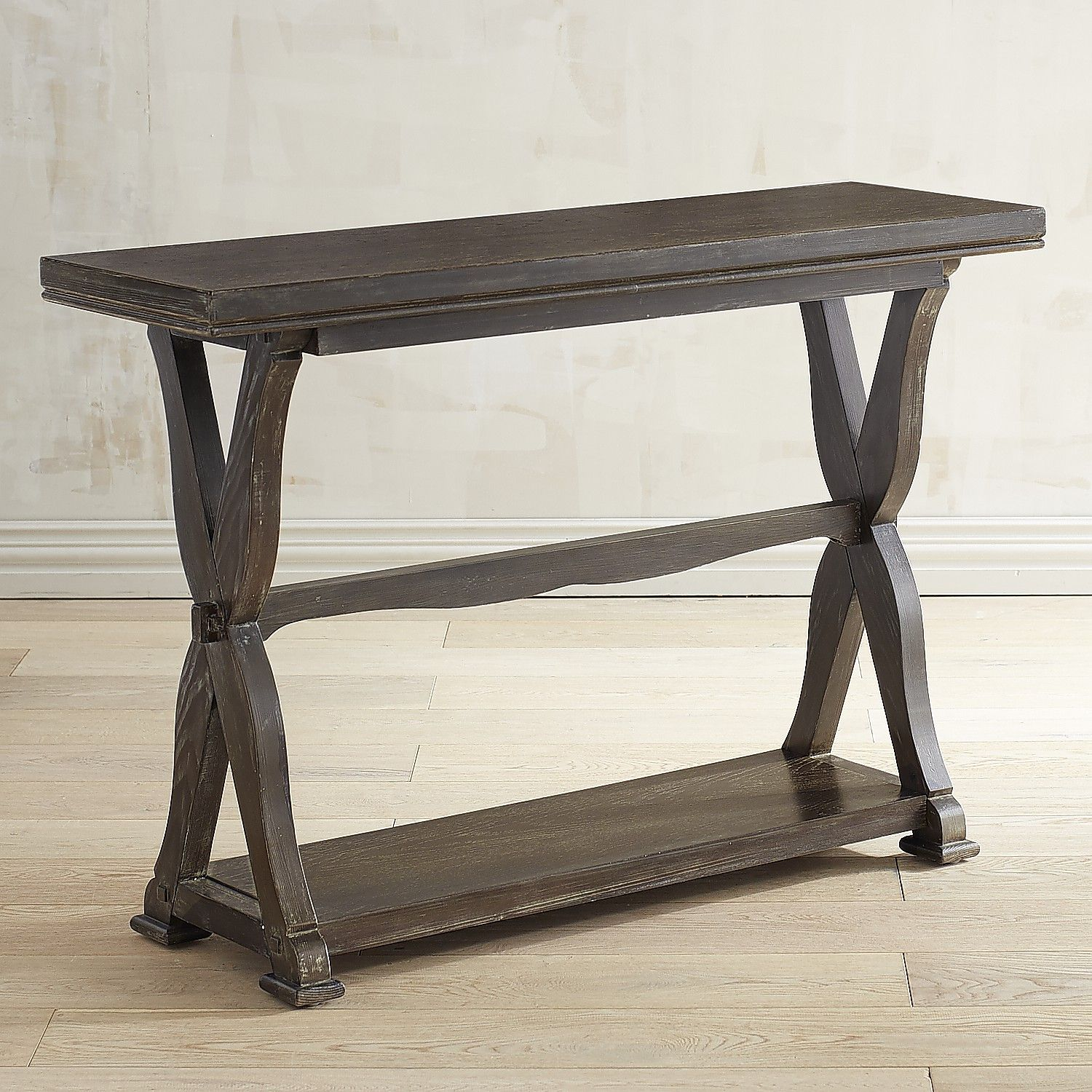 Rayne gray washed console table grey wash and products rayne gray washed console table geotapseo Choice Image
