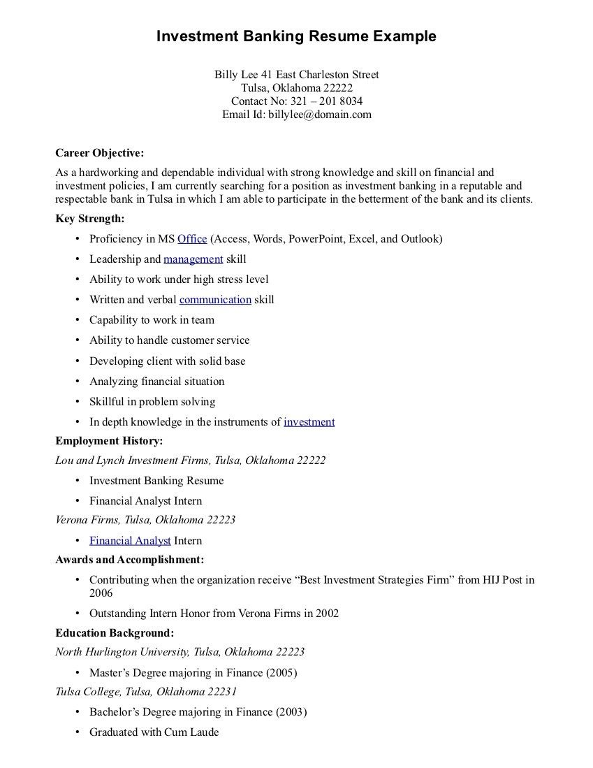 Government Resume Objective Statement Examples Help With