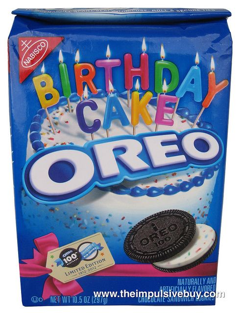 Nabisco Limited Edition Birthday Cake Oreo Review Oh Oh Oh Oreo
