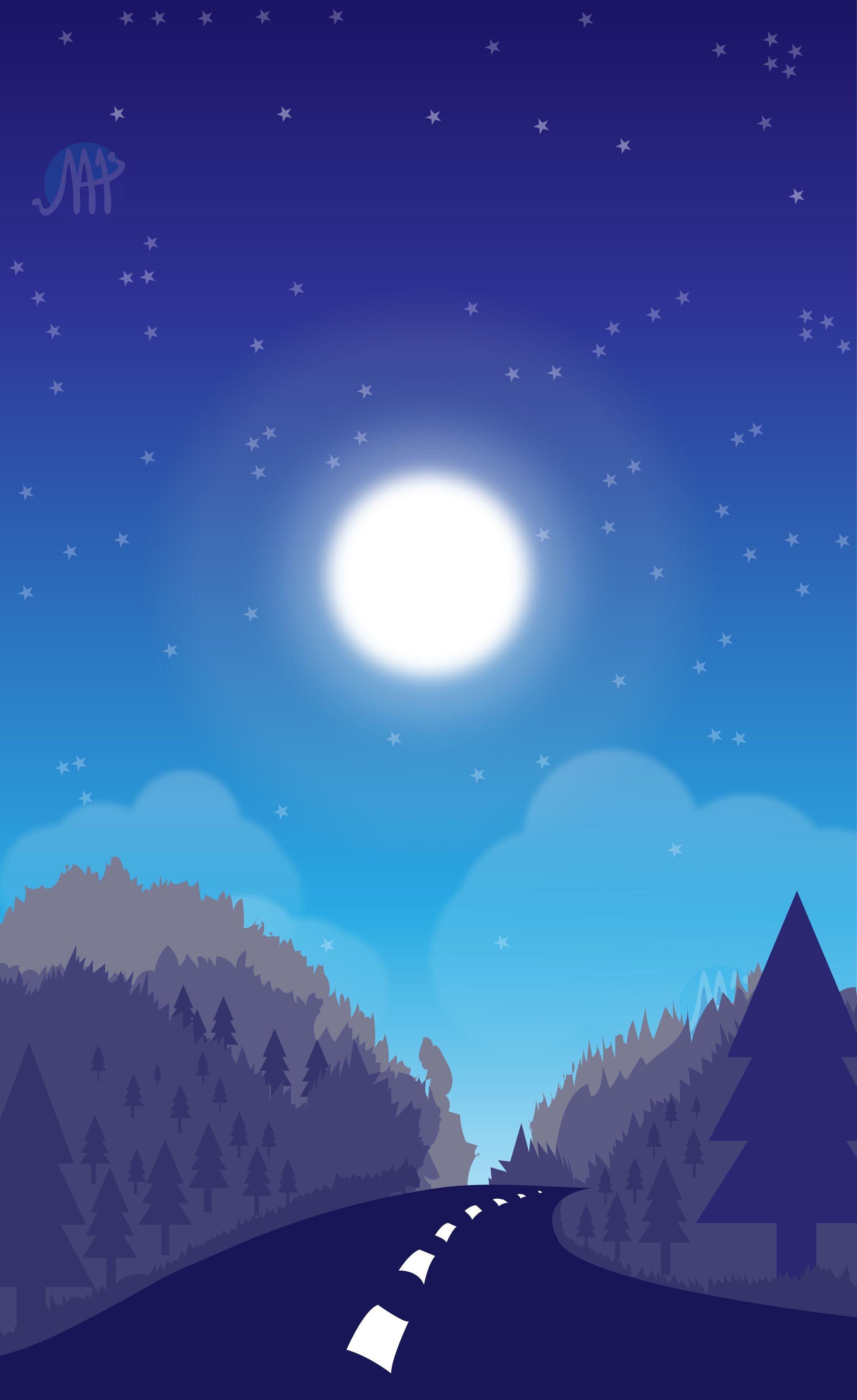 Night Sky Wallpaper illustrations in 2019. Night sky