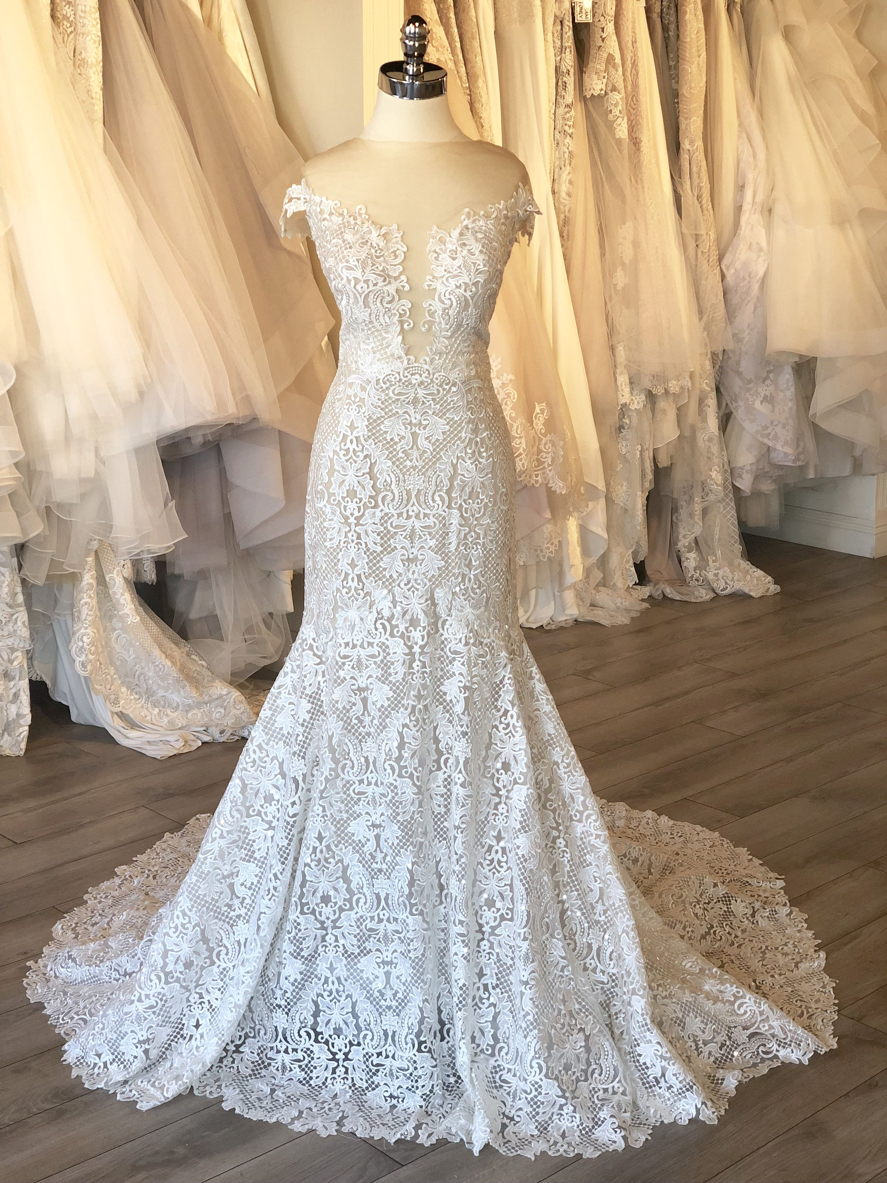 Lace wedding dress tulle november 2018 Calla Blanche Mylie Wedding Dress  Fall  Collection  Style