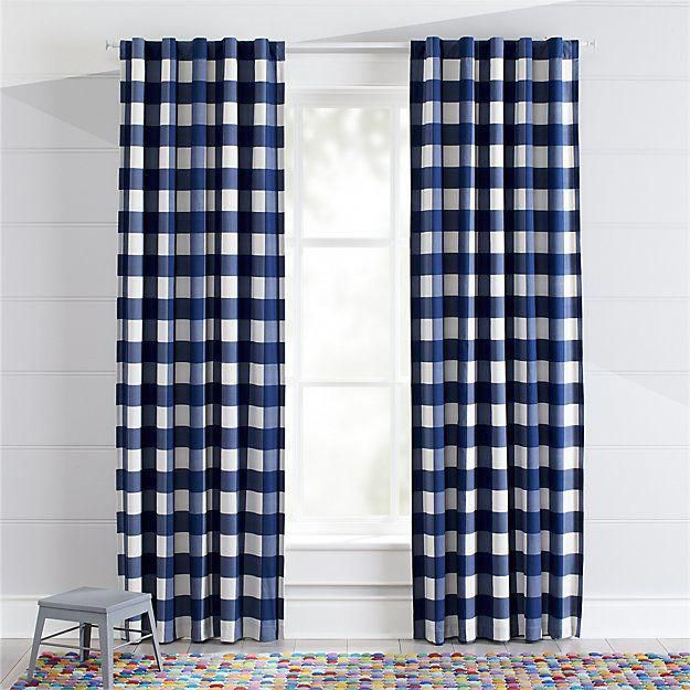 Blue Buffalo Check Blackout Curtains |  #BestBlackoutCurtainsforBedroomsandLivingRooms Cool Curtains, Kids Curtains,  Room Darkening