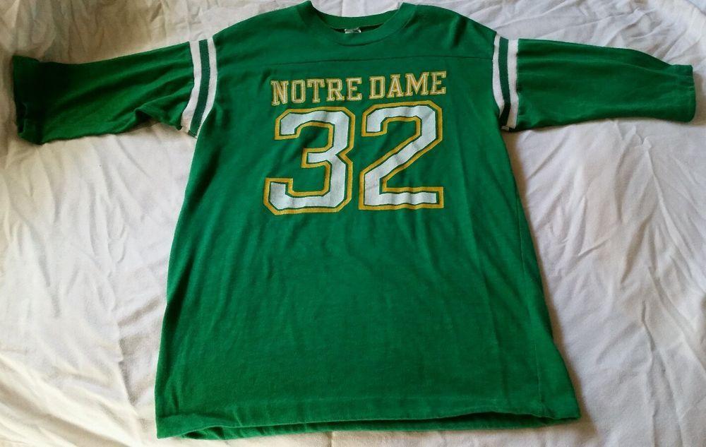 Vintage 70's Notre Dame Football Knit Jersey by Artex in Sports Mem, Cards & Fan Shop, Fan Apparel & Souvenirs, College-NCAA | eBay