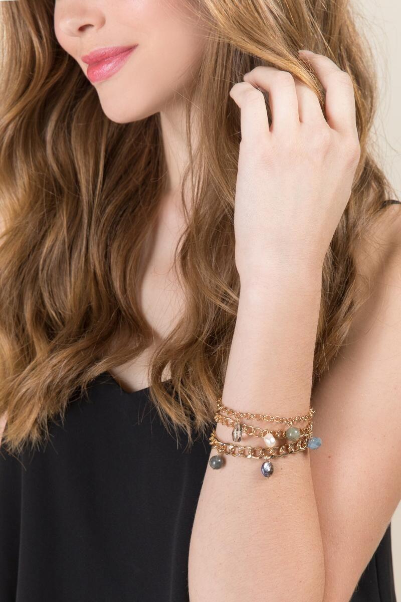 Juni pearl chain bracelet gold model christmas birthday