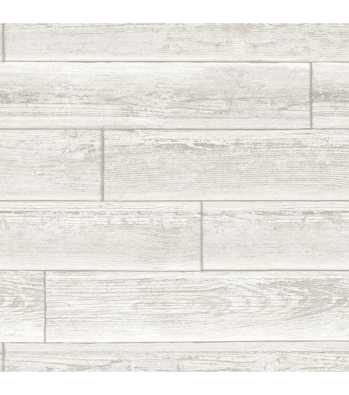 WallPops NuWallpaper Cream Serene Paneling Peel & Stick