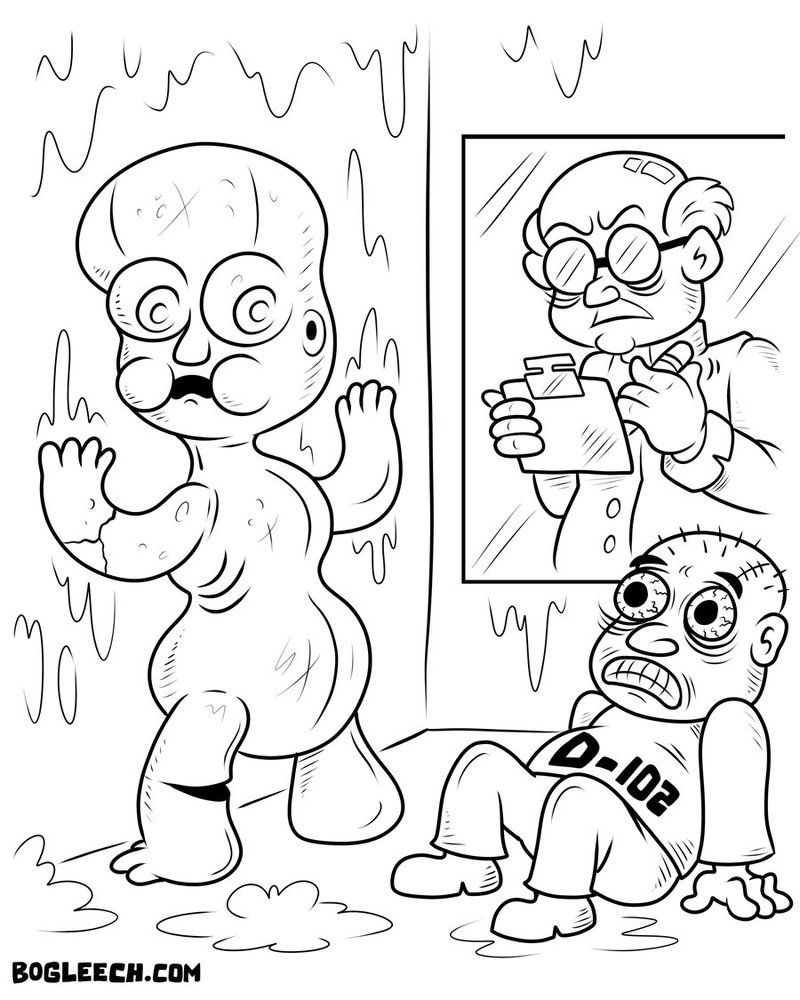 nightmare fuel coloring page 1 by scythemantis - Coloring Pg