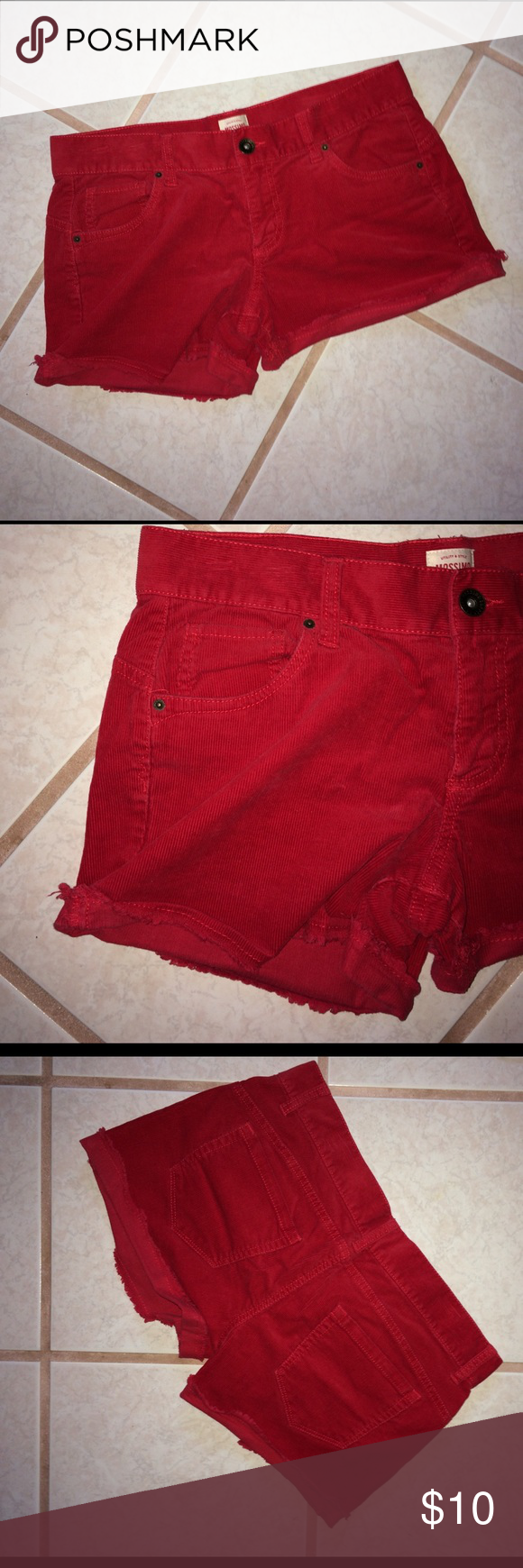 Mossimo Corduroy Shorts, Size 9   Jean shorts, Red shorts and Target