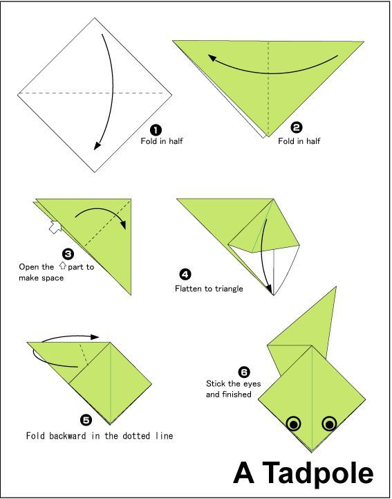 Simple Frog Origami