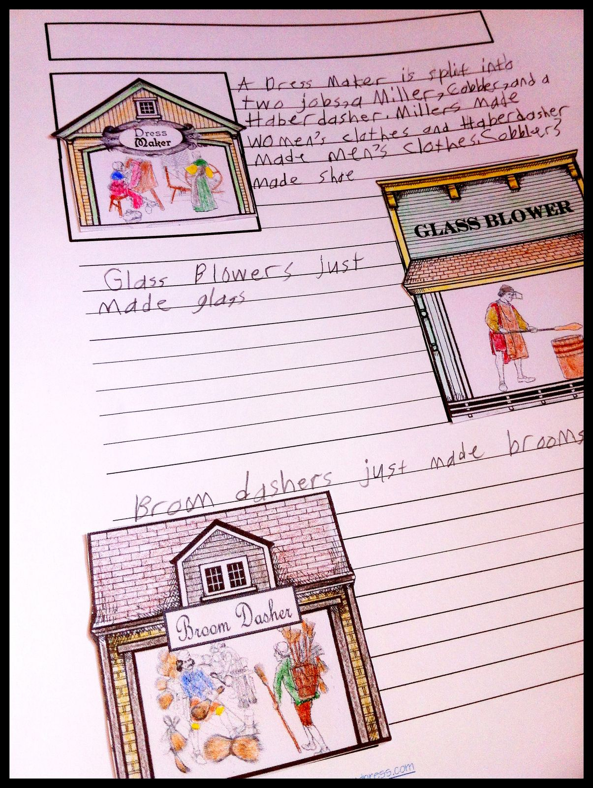 Colonial Life Notebooking Page