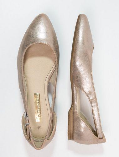 Tamaris Baleriny Rose Metallic Fashyou Pl Tamaris Shoes Wedding Shoe