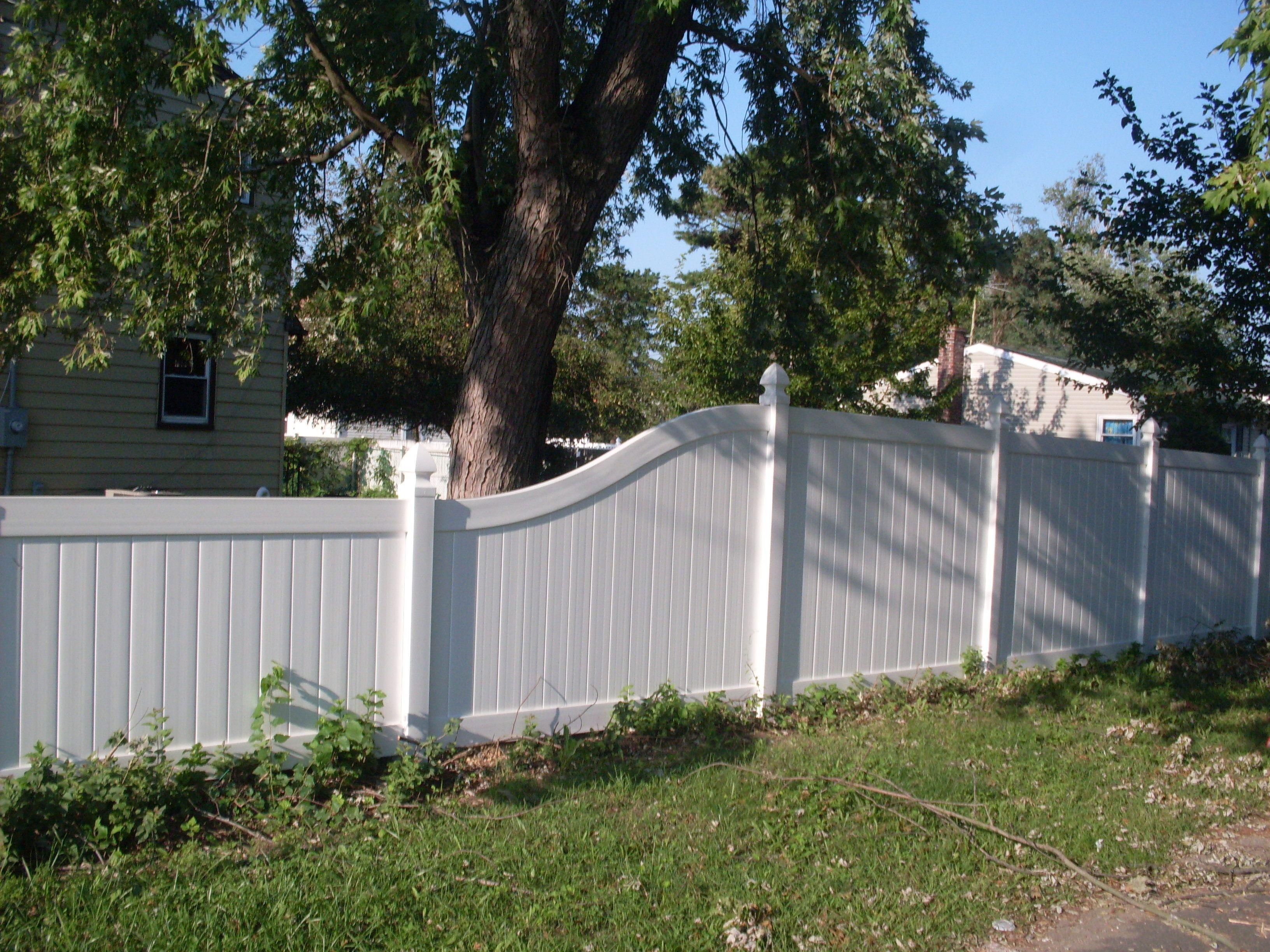 Vinyl Fenced In Backyard Ideas