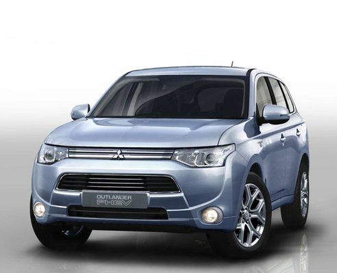 Mitsubishi Unveils World S First Plug In Hybrid Suv Outlander Phev Hybrid Car Mitsubishi Outlander
