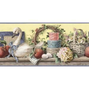 The Wallpaper Company, 10.25 in. x 15 ft. Blue Country