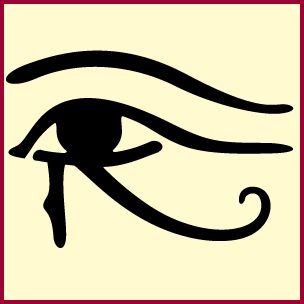 Egyptian Eye Of Horus Stencil Stuff To Draw From Stencils