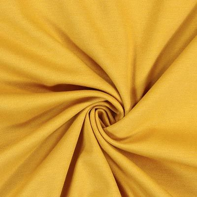 Jersey romanite classique - moutarde