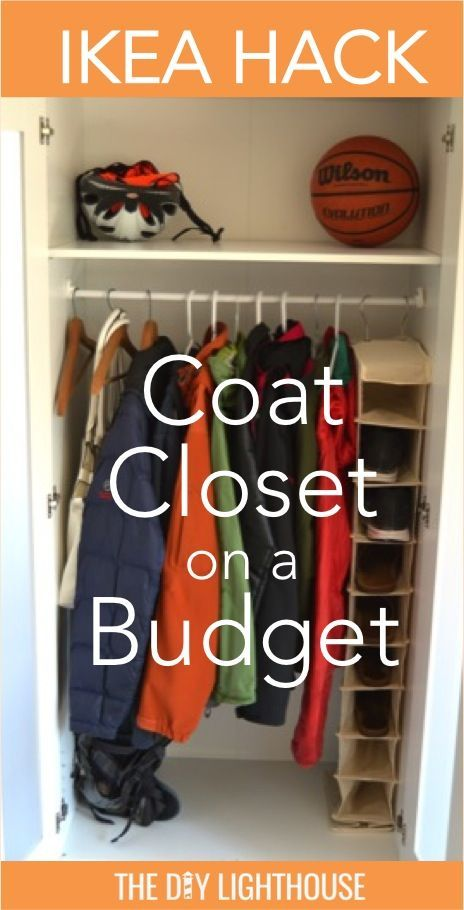 Ordinaire DIY Coat Closet Hack. Wardrobe Or Armoire Turned Into A Coat Closet Storage  Solution. Helps Remove Clutter And Organizes Coats, Jackets, Backpacks,u2026