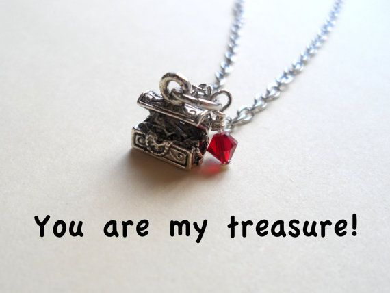 Treasure chest necklace or keychain best friend necklace treasure chest necklace or keychain best friend necklace birthstone necklace wife gift negle Choice Image