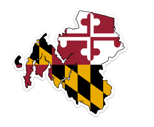 Talbot county, Maryland overlaid with the Maryland flag. Designed by Mark  Dignen. Facebook