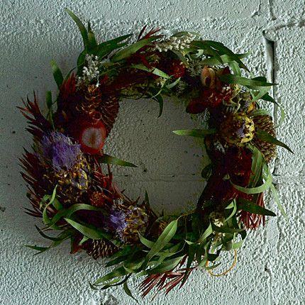 """Xmas  Wreath """"M"""" Woods by geckou"""