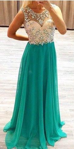 Beaded Open Back Prom Dress