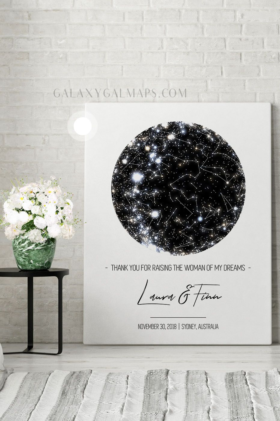 Unique Star Map For That Special Date First Anniversary Catholic Rosary Valentine S Day From All O First Anniversary Boyfriend Anniversary Gifts Star Map