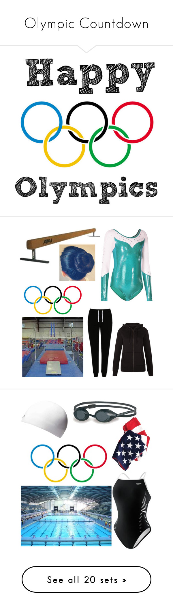 """""""Olympic Countdown"""" by audjshaw ❤ liked on Polyvore featuring art, George, New Look, Speedo, Ralph Lauren, Saucony, Dorothy Perkins, Dunlop, Antigua and Tonic"""