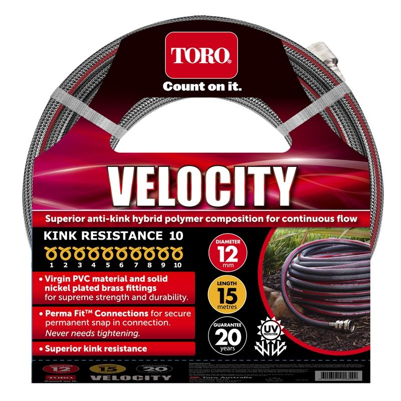 Toro 12mm 15m Velocity Garden Hose Garden hose, Velocity