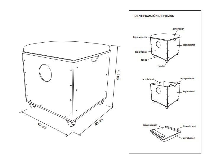 Cubo asiento | Ideas para el hogar | Pinterest | Cubos, Muebles de ...