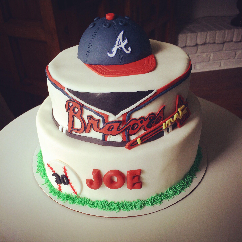 Atlanta Braves Cake #baseball