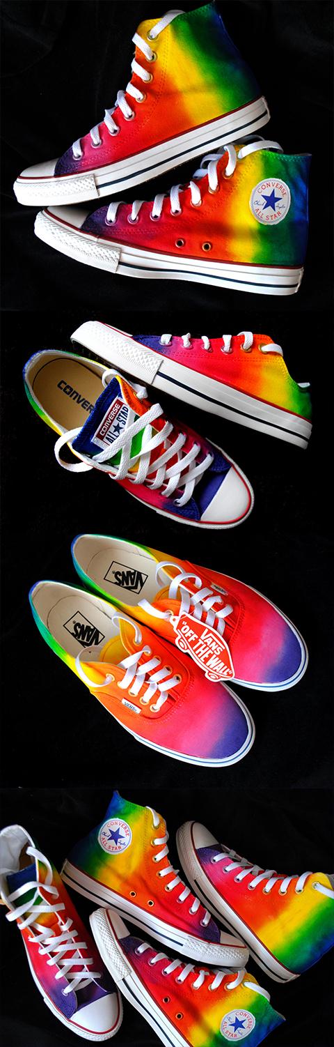 6a1063fa019 Custom handpainted rainbow sneakers