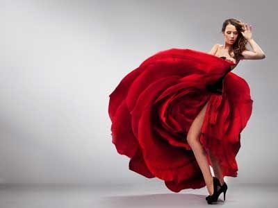 a rosebud dress