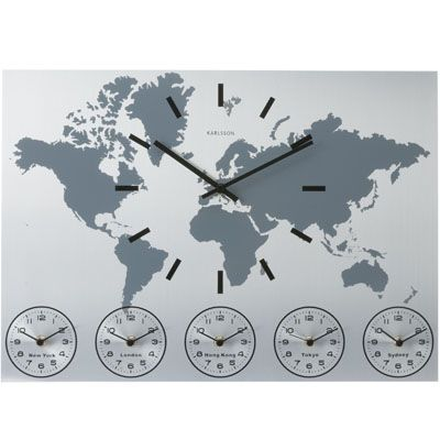 Analog world map time zone clock jamer pinterest time zones analog world map time zone clock gumiabroncs Gallery