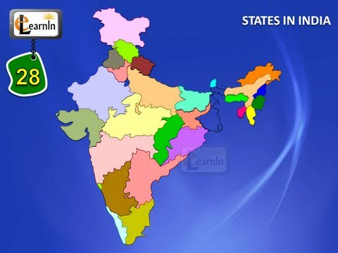 28 states of india with map general knowledge for kids children 28 states of india with map general knowledge for kids gumiabroncs Image collections