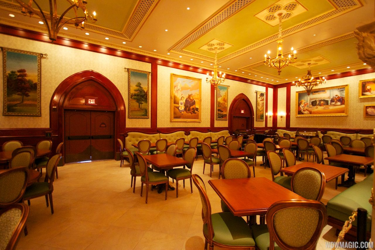 The Rose Gallery Dining Room At The Be Our Guest Restaurant Dining Dining Room Restaurant
