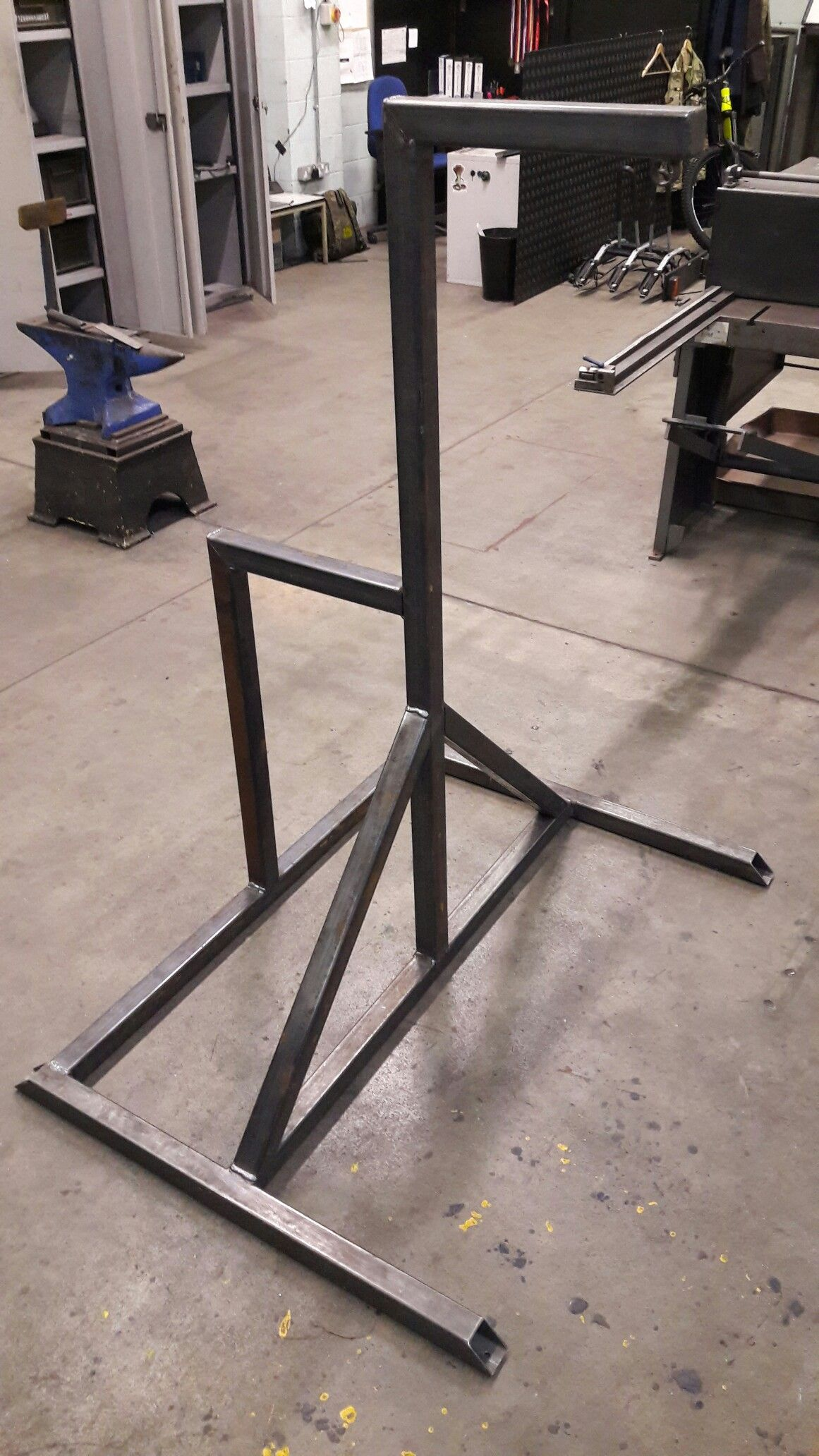 Freestanding Boxing Bag Frame Made From 50mm Box Section Steel Diy Home Gym Heavy Bag Stand Boxing Bag Stand
