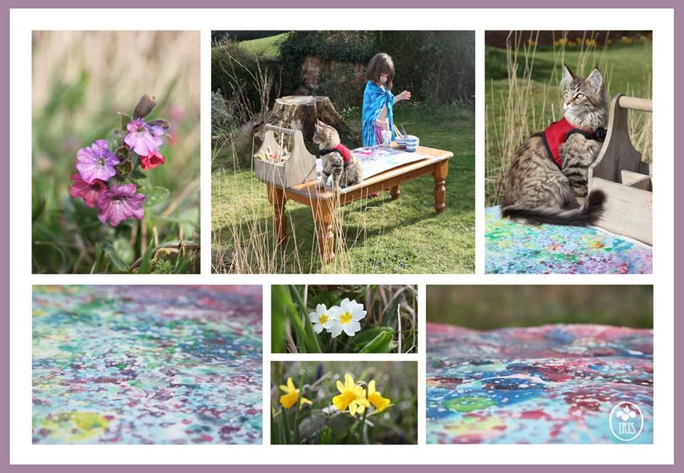 Pin on Iris Grace, her cat Thula, her painting and autism