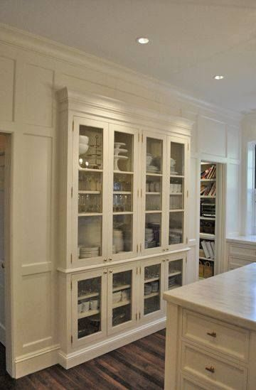Huestis Tucker Architects Create Built In Pantry Cabinets In A Kitchen With  Glass Doors