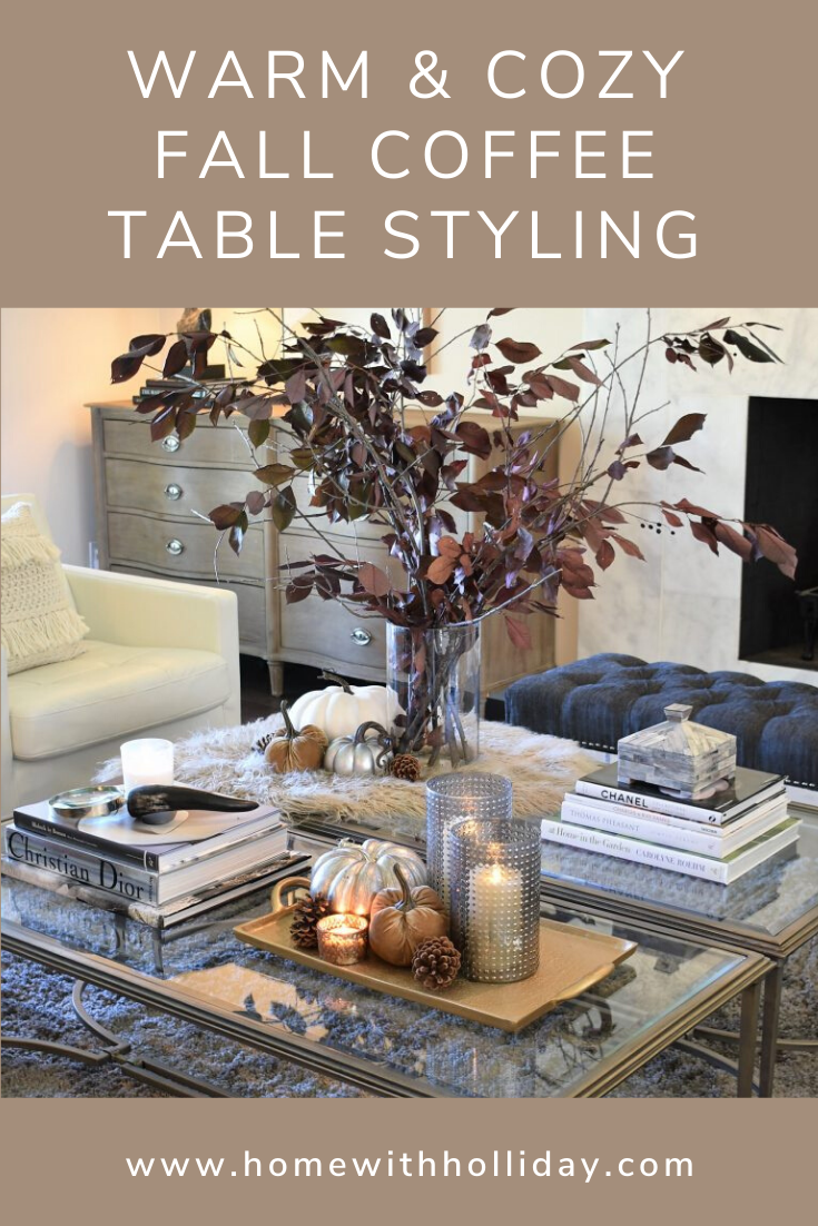 Warm And Cozy Fall Coffee Table Styling Home With Holliday Fall Coffee Table Coffee Table Styling Autumn Home