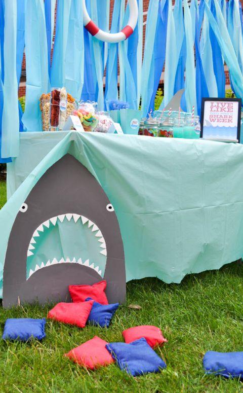 Shark Party Ideas #sharkweekfood