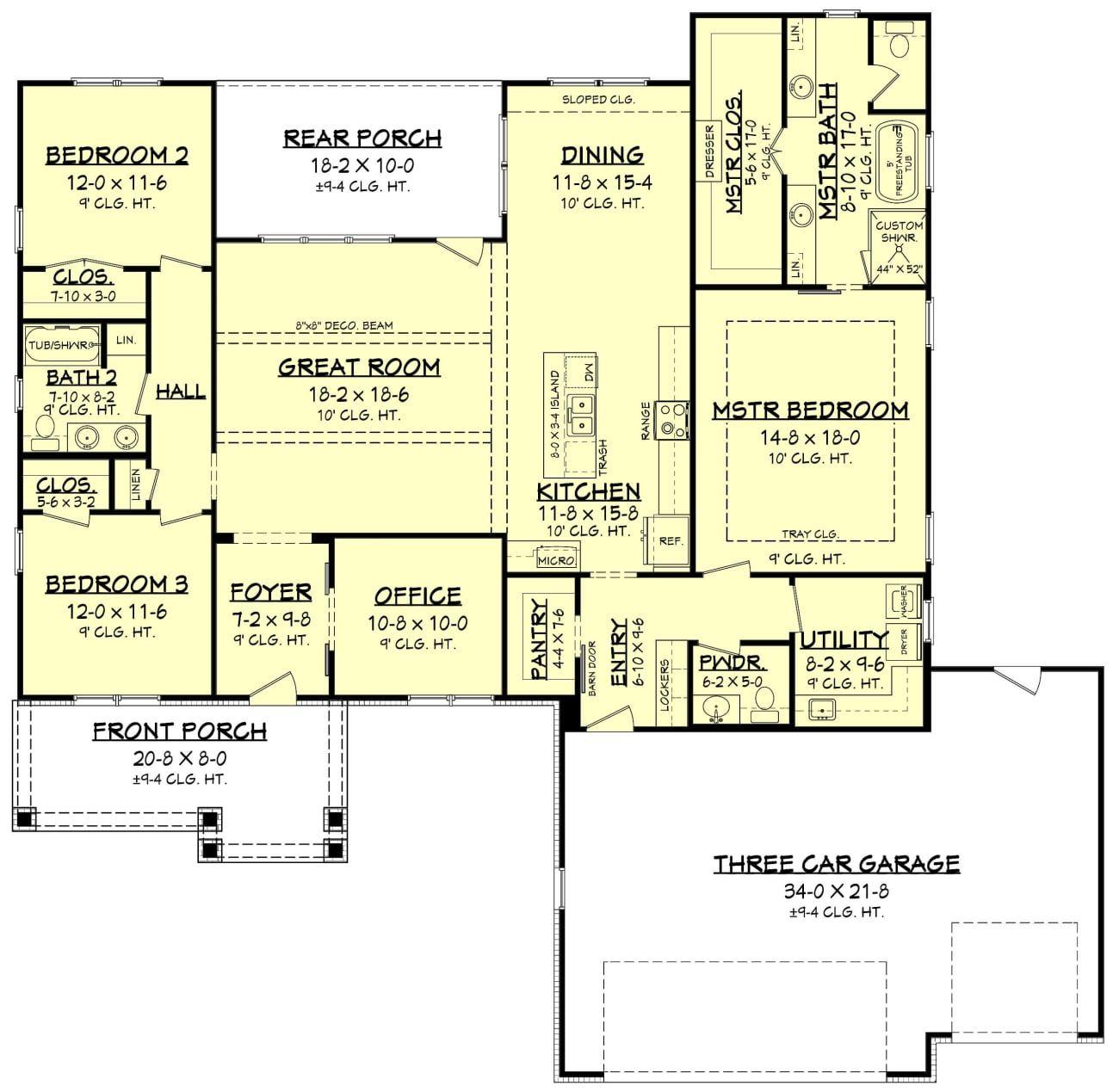 Weldon House Plan Ranch House Plans Ranch Style House Plans Ranch Style Homes