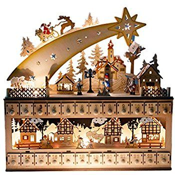 This is such a beautiful Advent Calendar, usable year after year! High quality wood construction, it's a great addition to that Christmas decor!  #christmas #adventcalendar #christmas #decorations