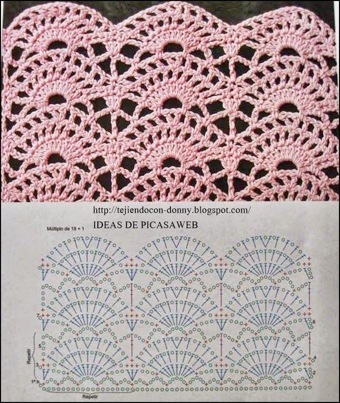 Häkelmuster   Häkelmuster / crochet pattern / le motiv de crochet ...