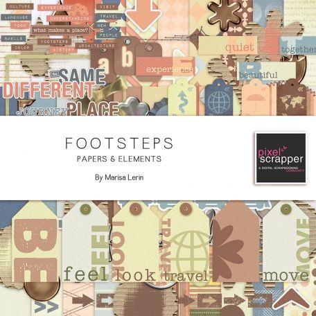 Footsteps Bundle by Marisa Lerin   Pixel Scrapper digital scrapbooking