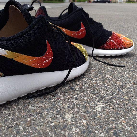 0ce675fd98ce Nike custom Roshe runs sun graffiti street style
