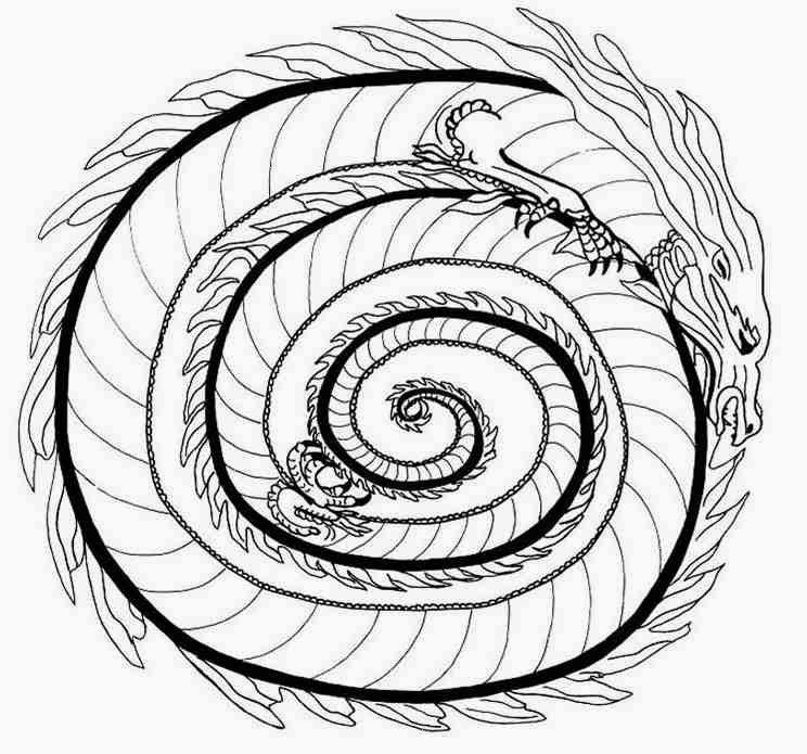 animal fire dragon mandala coloring pages mandalas in 2018